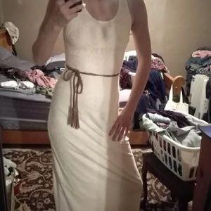 Racerback cream lace dress